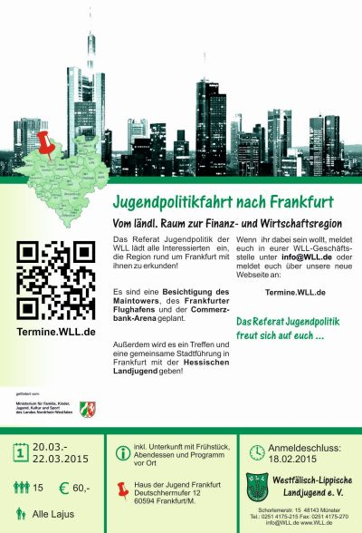 Jugendpolitikfahrt nach Frankfurt