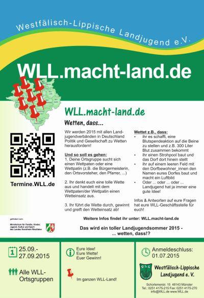 Flyer zu WLL.macht-land.de