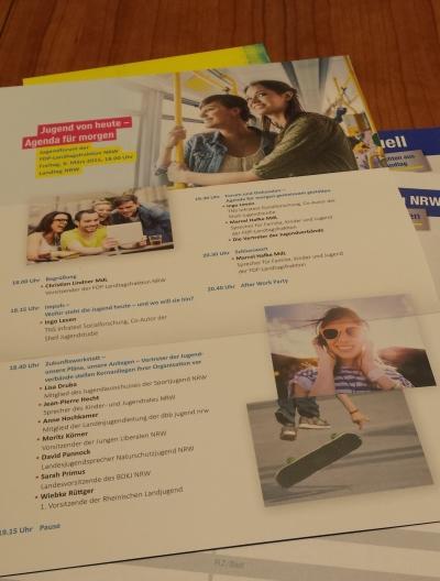 (Foto: Vanessa Weber) Das Programm des Jugendforums der FDP in NRW