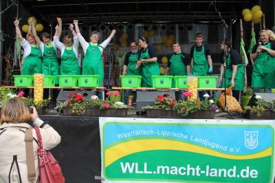 (Foto: WLL) Die Sieger um Kartoffelbreite - Das Team der LandFrauen vom WLLV