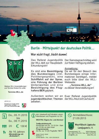 Jugendpolitische Fahrt nach Berlin