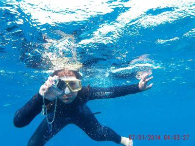 Auch unter Wasser wurden Fotos geschossen!