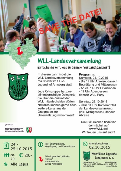 Save the date - WLL-Landesversammlung