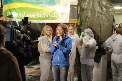 (Foto: WLL) Der WDR berichtet von der Wettaktion der LJ Hennen.