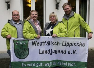 (Foto: WLL) Geschäftsführenden Vorstand ab 10/2015: v.l.: Sebastian Jakobs, Isabell-Marie Cyrener, Yvonne Witte, Andre Bußmann