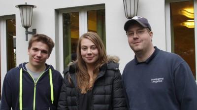 (Foto: WLL) Zur Kassenprüfer_in wurden Frank Maletz (rechts, Landjugend Lengerich), Lena Goeken (Landjugend Hennen) und Niklas Nollmann (links, Landjugend Lengerich) gewählt.
