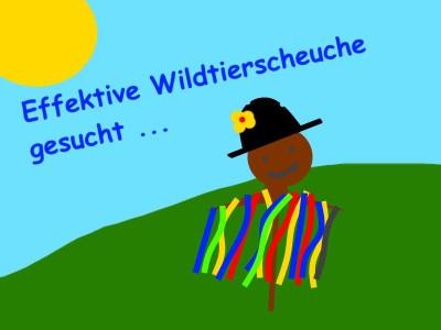 (Bild: WLL) Wildtierscheuchen-Wettbewerb - Schnell noch mitmachen!