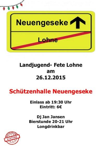 (Bild: LJ Lohne): Nun findet die Fete in Neuengeseke statt!