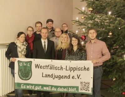 (Foto: WLL) Das Referat Jugendpolitik der WLL mit MdL Marcel Hafke von der FDP.