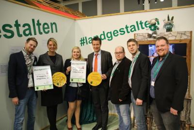 (Foto: WLL) MdL NRW Christina Schulze Föcking CDU und MdL NRW Matthias Kerkhoff CDU mit dem Vorstand der WLL.
