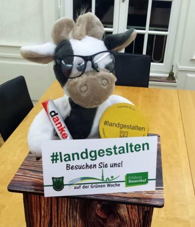 (Foto: V. Weber) Wilma freut sich schon auf den Landjugend-Stand auf der IGW in Halle 3.2 in Berlin!