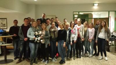 (Foto: C. Czech) Am Gruppenabend zog Wilma bei der Landjugend Unna ein.