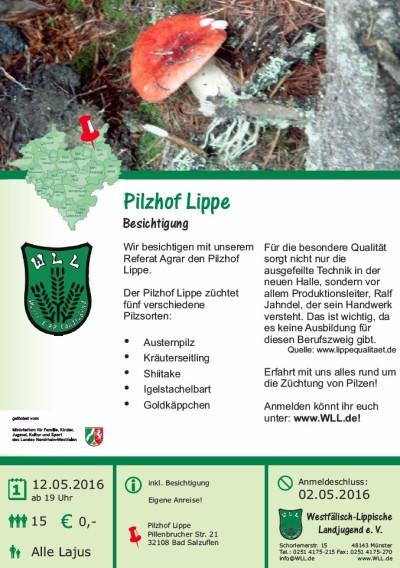 Agrarbesichtigung Pilzhof Lippe
