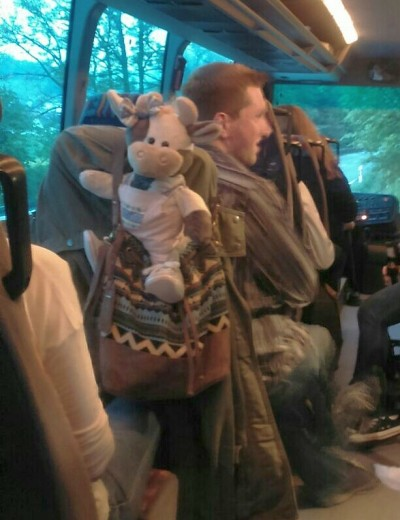 Wilma auf dem Weg zur Scheunenparty mit der LJ Halver Foto-Sieper