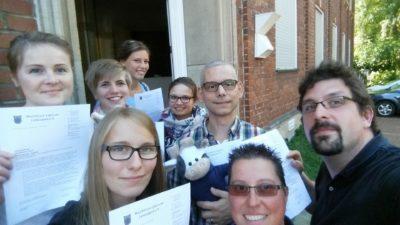 Die Teilnehmer_innen der WLL-Präventionsschulung Foto-WLL