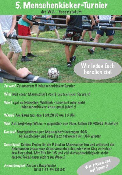(Bild: LJ Burgsteinfurt) Menschenkicker-Turnier LJ Burgsteinfurt