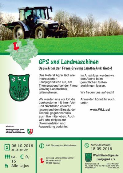 (Bild: WLL) Themenabend Referat Agrar: GPS und Landmaschinen