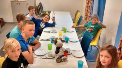 (Foto: Nolte) Frühstück bei unserer Kinderfreizeit