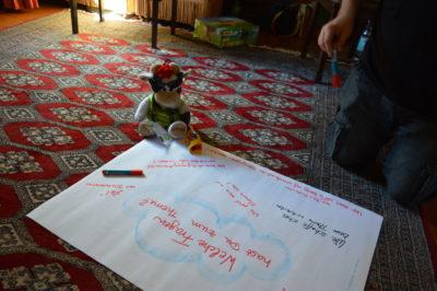 (Foto: Vera-Schückler) Wilma bei einem Seminar der Deutsche LandjugendAkademie