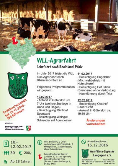 (Bild: WLL) WLL Agrarfahrt 2017