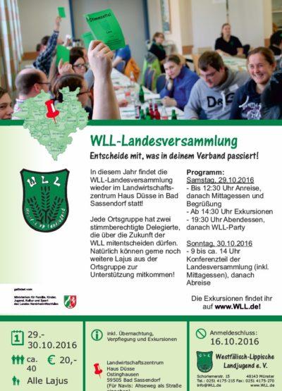 (Bild: WLL) WLL-Landesversammlung 2016