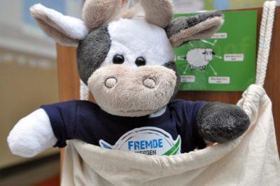 (Foto: Gräschke) Versucht sich Wilma etwa als Känguru?!