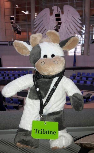 (Foto: LJ Siegen) Wilma im Deutschen Bundestag