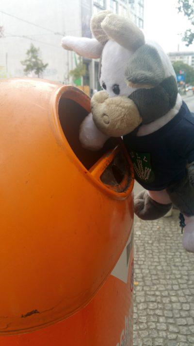 (Foto: Gräschke) Wilma sorgt in Berlin für Sauberkeit