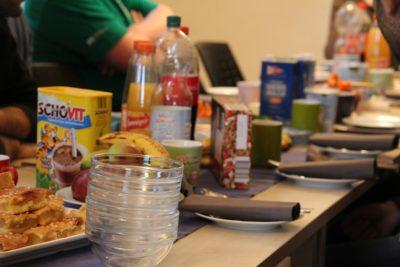 (Foto: WLL/Welpelo) Beim Frühstück sah die gemeinsame Versorgung nicht schlecht aus.