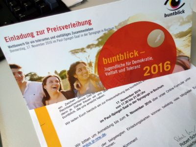 (Foto: WLL/Weber) Preisverleihung buntblick 2016