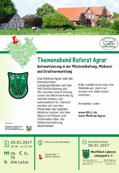 Themenabend Referat Agrar - Hof Große-Kintrup