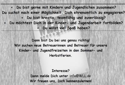 (Bild: WLL/Trepte) Betreuer_innensuche