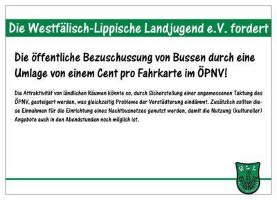 (Bild: WLL/Berkhoff) Wahlforderung 6/15 - Verbesserung des ÖPNVs