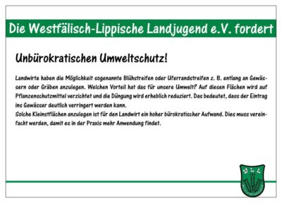 (Bild: WLL/Berkhoff) Wahlforderung 11-15 Unbürokratischer Umweltschutz