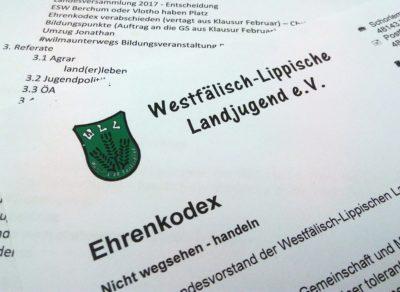 (Foto: WLL/Weber) Ehrenkodex der WLL: Nicht wegsehen - handeln