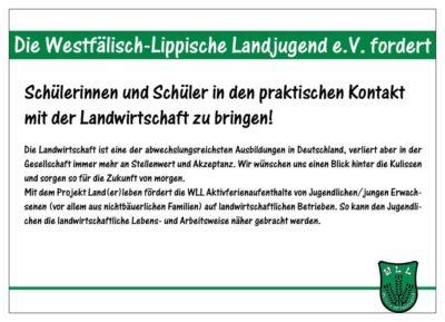 (Bild: WLL/Berkhoff) Wahlforderung 13/15 Landerleben