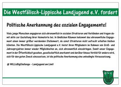 (Bild: WLL/Berkhoff) Wahlforderung 14/15 Soziales Engagement