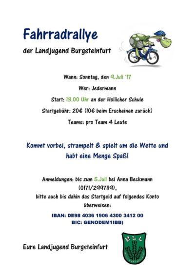 (Bild: LJ Burgsteinfurt) Fahrradrallye LJ Burgsteinfurt