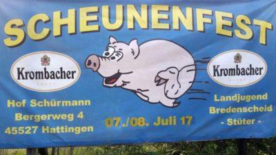 (Foto: LJ Bredenscheid-Stüter) Scheunenfest der Landjugend Bredenscheid-Stüter