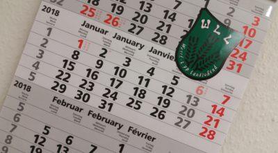 (Foto: WLL/Engberding) Jahresplanung Kalender