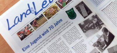 """(Bild: WLL/Engberding) Artikel Wochenblatt """"Eine Jugend wird 70 Jahre"""""""