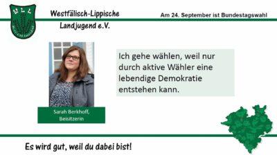 (Bild: WLL) 2017 Bundestagswahl Sarah Berkhoff