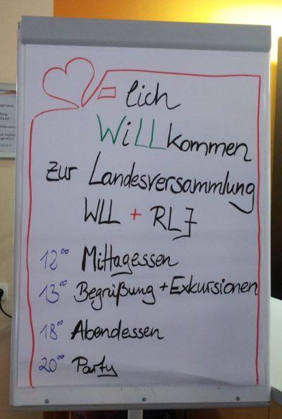 (Foto: WLL/Engberding) Herzlich Willkommen zur diesjährigen Landesversammlung