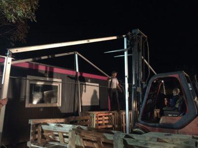 (Foto: LJ Lengerich) Es wurde noch ein Zelt aufgestellt