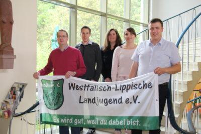 Vorne v.l.n.r.: Frank Maletz, Andreas Weber, Sarah Berkhoff, Franziska Trepte, Stefan Schmidt