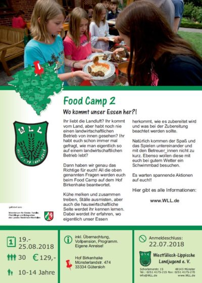 (Bild: WLL) 2018 WLL Food Camp 2