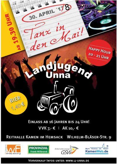 (Flyer: LJ Unna) Tanz in den Mai LJ Unna