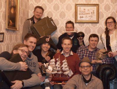 (Foto: TeamCrack Dortmund) Unser Vorstand im Escape-Room