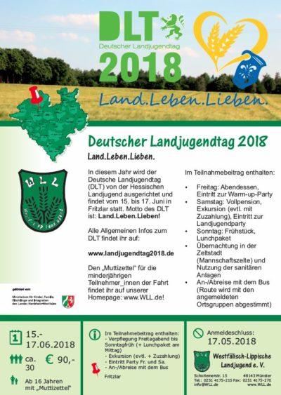 (Bild: WLL) Deutscher Landjugendtag 2018