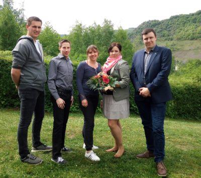 Die WLL-Delegation mit der frisch gewählten ersten Vorsitzenden Nina Sehnke